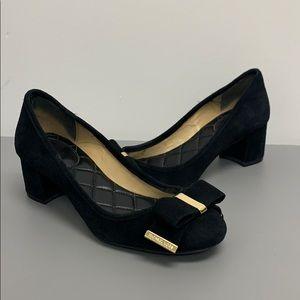 Michael Kors Suede Black/Gold Heels Like New